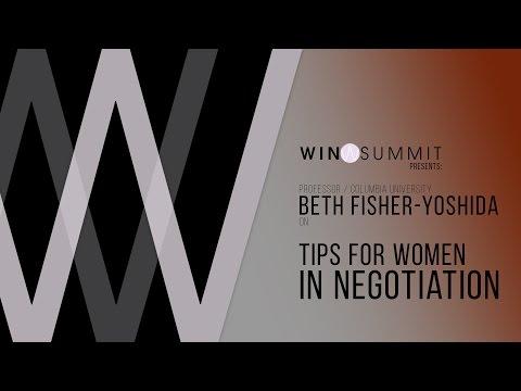 Dr. Beth Fisher - Yoshida ON Tips For Women In Negotiation - WIN Summit 2017