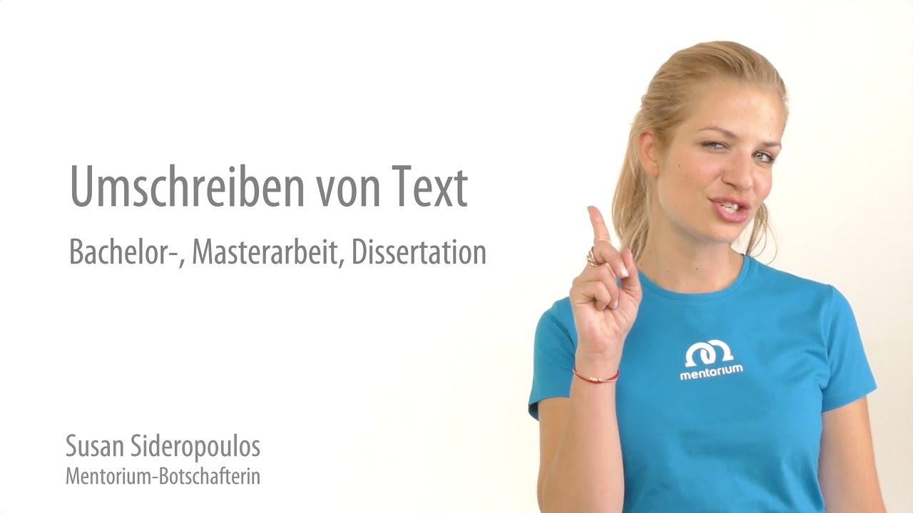 Bachelorarbeit text umschreiben hausarbeit online marketing pdf