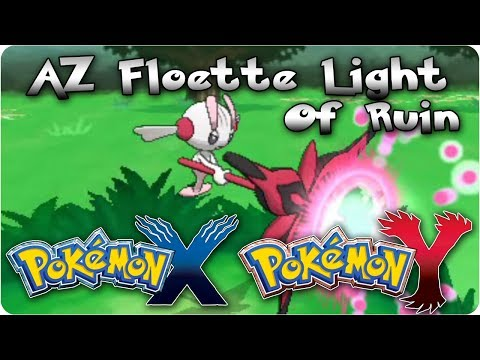 Pokemon X & Y: Shiny AZ Floette Battling With Light Of Ruin (Signature Move) + Stats
