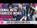 Capture de la vidéo Ermal Meta E Fabrizio Moro (Italy) Interview @ Eurovision 2018 | Wiwibloggs