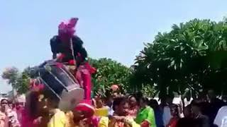 DANGER ACCIDENT DURING PLAY DHOL 2018