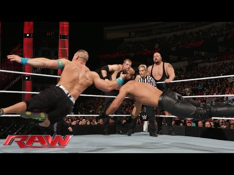 John Cena vs. Seth Rollins, Big Show & Kane - 3-on-1 Handicap Match: Raw, January 19, 2015 thumbnail