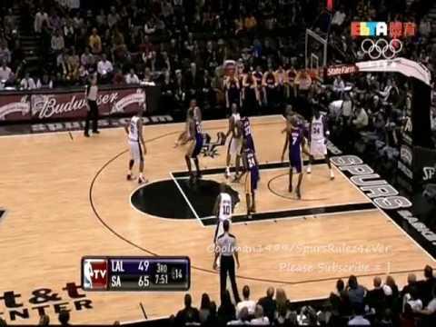 [NBA] San Antonio Spurs Hightlights vs. Los Angeles Lakers Jan 12 2010