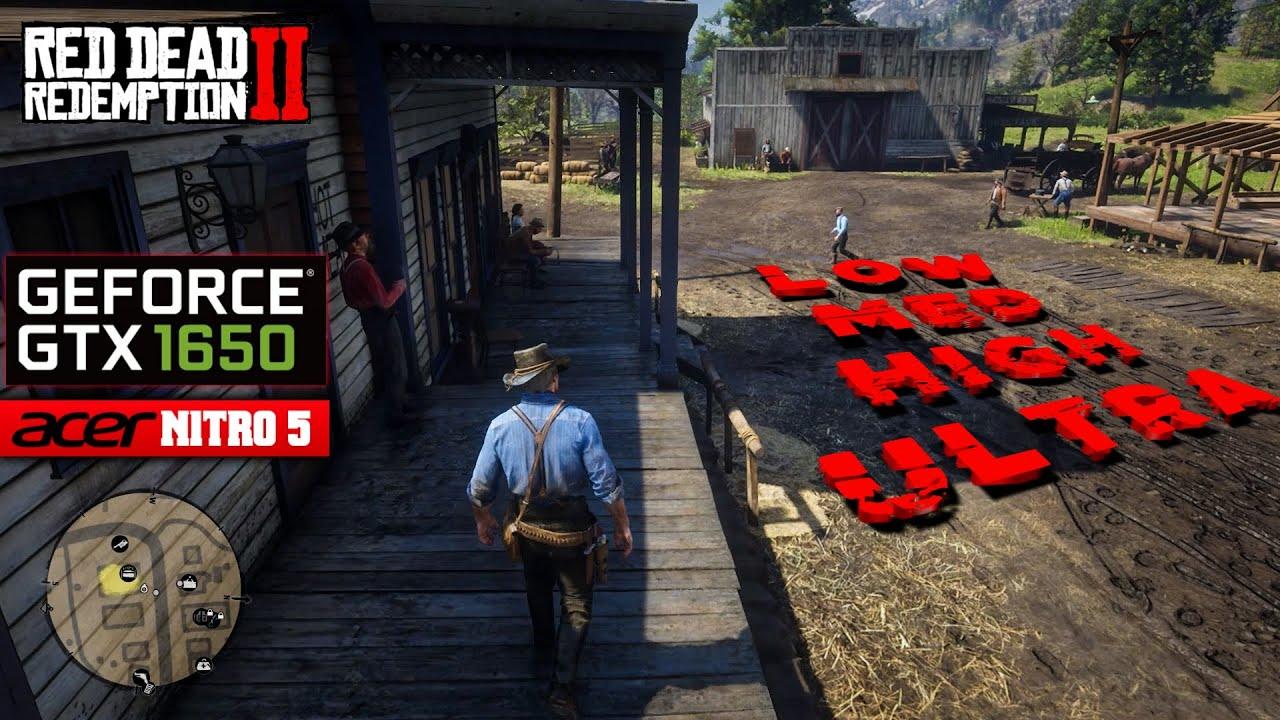 Red Dead Redemption 2 - GTX 1650 Benchmark | Acer Nitro 5 Gaming Test | Ryzen 5 3550H