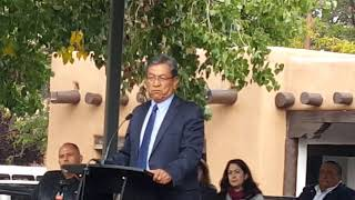 Santa Fe Indigenous Day Commemoration 2018 -  Dine (Navajo Nation) President Begaye -