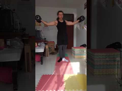 Sandow's system dumbbells training 7kg day 8