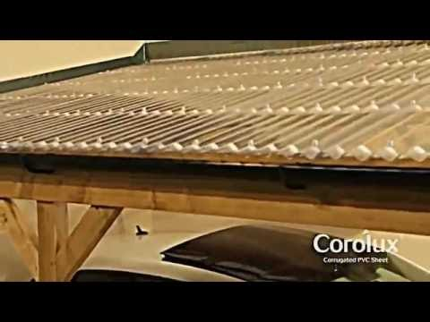 How To Install Corolux Pvc Roof Sheets Youtube