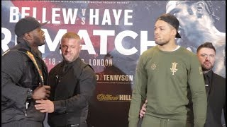 INTENSE! LENROY THOMAS v JOE JOYCE - OFFICIAL HEAD TO HEAD / BELLEW v HAYE II