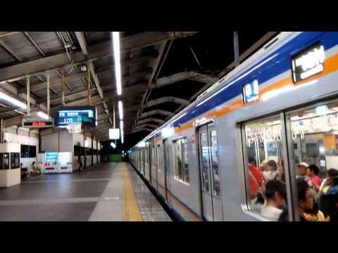 [Osaka,Japan Railway]南海電鐵 離開天下茶屋站Nankai Electric Railway Left Tengachaya Station