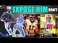 THE EXPOSE HIM DRAFT! PLAYER WITH THE LEAST AGILITY IN EVERY ROUND! Madden 19 Draft Champions