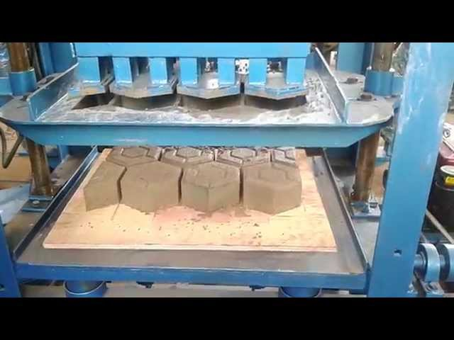 Mesin press hydraulic paving