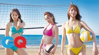夏語心、舒子晨、康茵茵 辣妹打排球