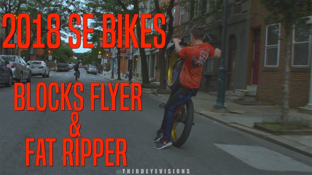 bf389f64bfd 2018 SE Bikes: Blocks Flyer & Fat Ripper - YouTube