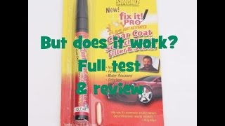 The 99p ebay car paint scratch repair pen.  Test and review.