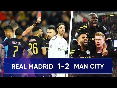 Real Madrid 1-2 Manchester City | Sergio Ramos Sent Off As De Bruyne Seals City Win!!