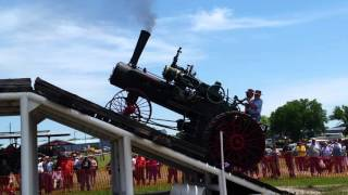 Case steam tractor incline demonstration