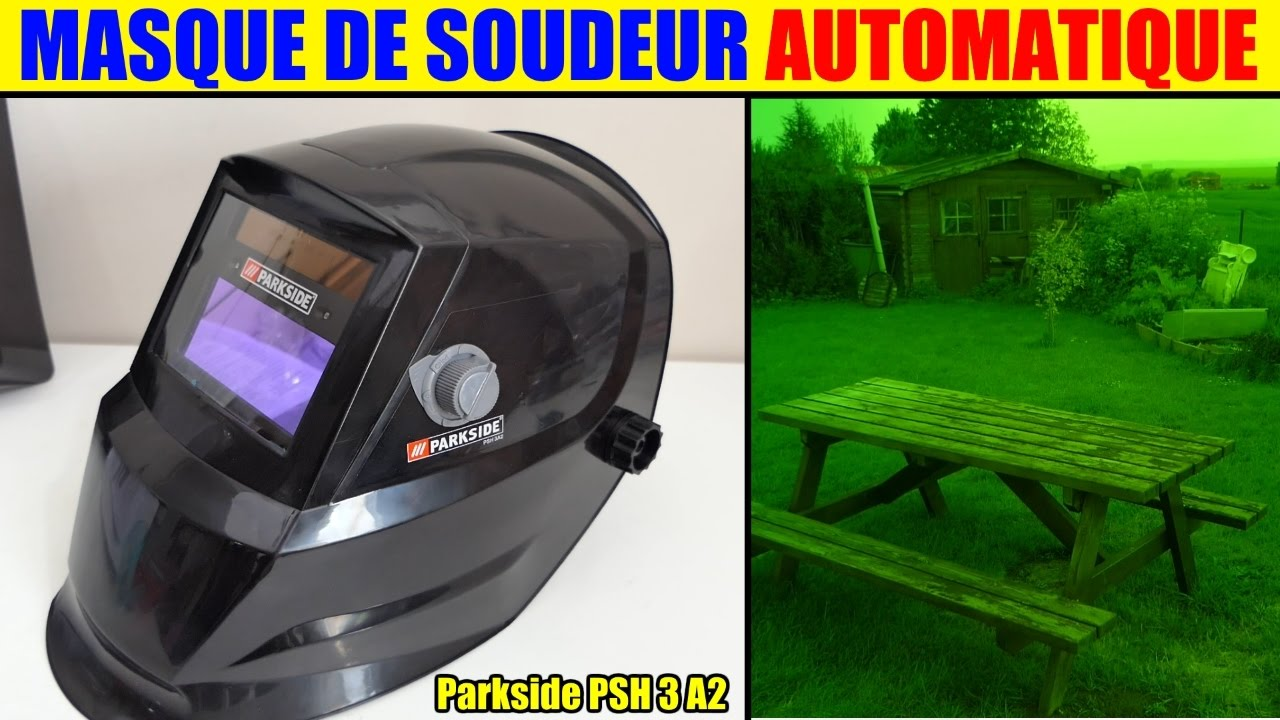Masque de soudure lidl parkside automatique soudeur auto - Masque de soudure automatique ...