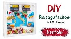 Anleitung - Reisegutschein basteln - DIY Reise-Gutschein im Ribba Rahmen Selbermachen