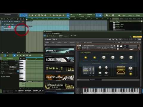 Kontakt Midi Channel Routing in Studio One 3