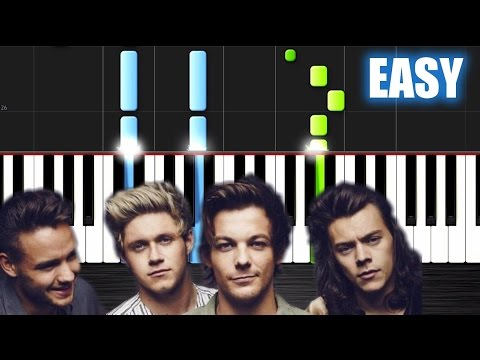 One Direction - Perfect - EASY Piano Tutorial by PlutaX - Synthesia