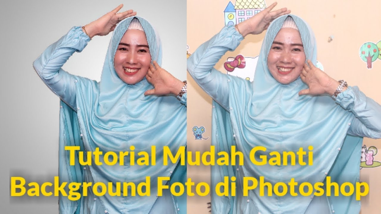 Tutorial Cara Mengganti Background Foto di Photoshop - YouTube