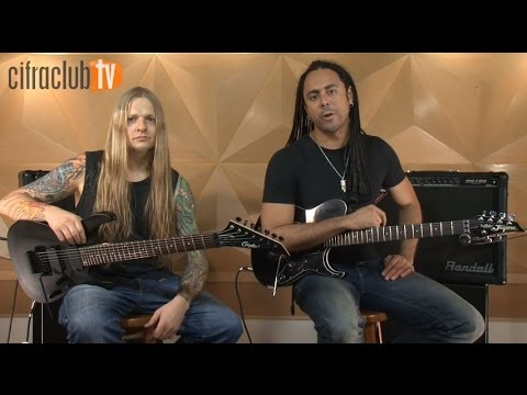 Almah ensina os riffs de Birds of Prey (aula de guitarra)