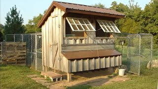 Tour our Saltbox-Style Chicken Coop