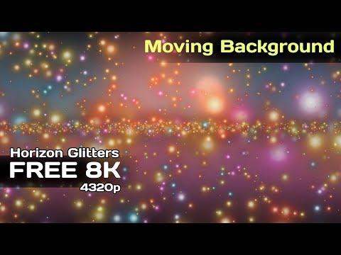 8K Horizon Glitters 4320p FREE Motion Background #AAVFX