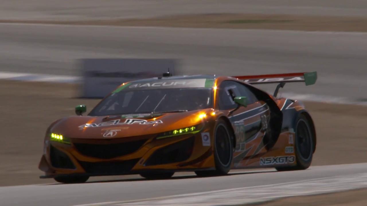 HPD Trackside -- IMSA Acura NSX GT3 Laguna Seca Race Report - YouTube