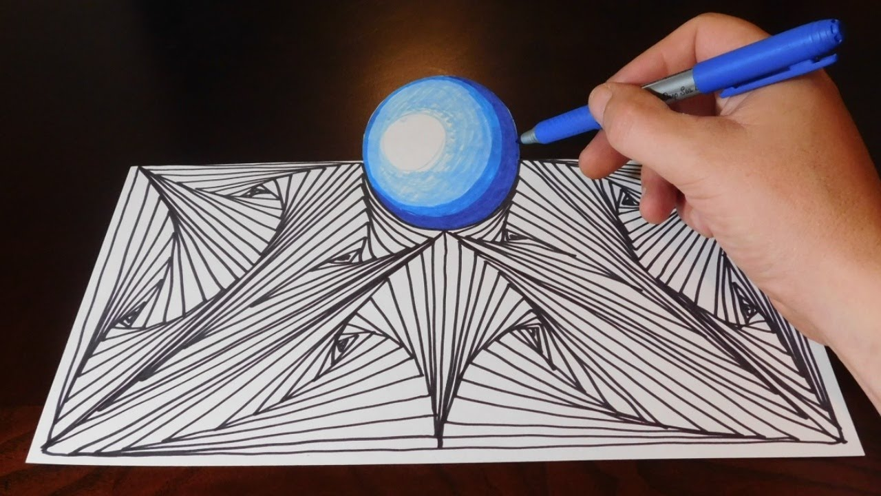doodle sketch pattern and orb easy 3d trick art illusion youtube