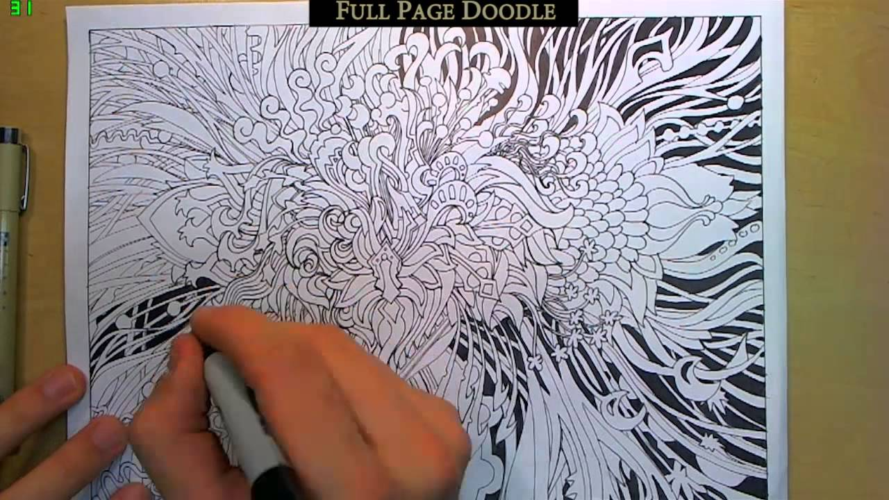 epic full page doodle with some doodle tips youtube