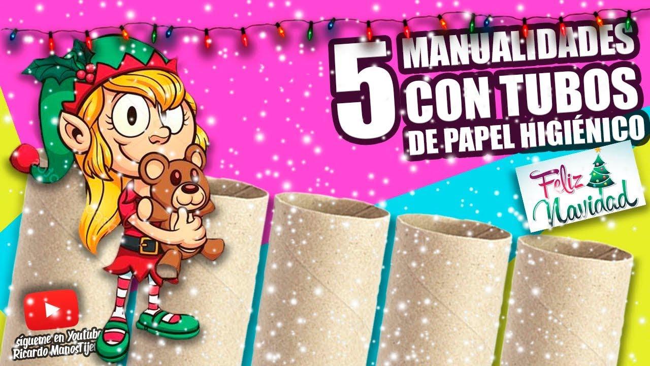 5 manualidades con tubos de papel higi nico para navidad for Accesorio para papel higienico