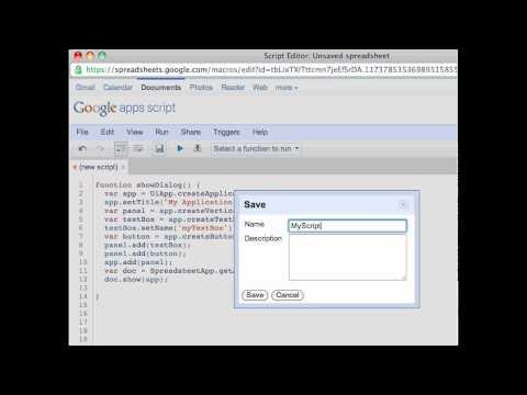 Google Apps Script Tutorial: How to create UI using Apps Script