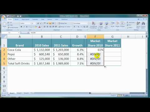 How To Calculate Market Share In Excel