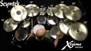 Scymtek Cymbals-Xtreme Series, Brian Spaun Demo