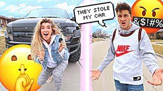 Our Stalker Stole My Fiancés NEW CAR! (prank)