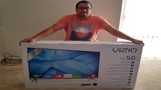 Vizio 50in 4k Target TV Unboxing