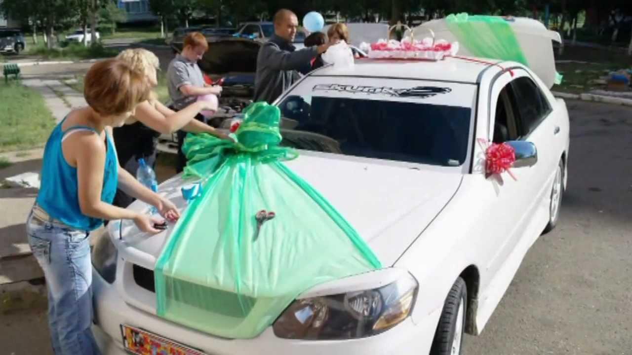 Свадебные банты на свадебную машину своими руками фото 899