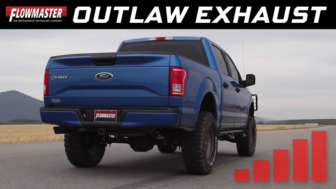 Flowmaster Exhaust F150 >> Flowmaster Outlaw Cat-back Exhaust System - 2015-2018 Ford F150 - 2.7L Ecoboost - 817726 - YouTube