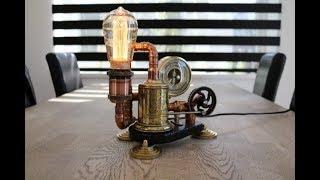 Bottlediggertom upcycling  a victorian lamp   steampunk lamp build