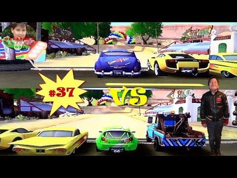 DISNEY PIXAR CARS - MATER NATIONAL - PART#37 - DOC HUDSON VS GREEN EMMA