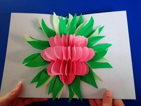 3D Blumen POP UP Karte selber machen. DIY Geschenkideen zum Muttertag, Vatertag oder Geburtstag