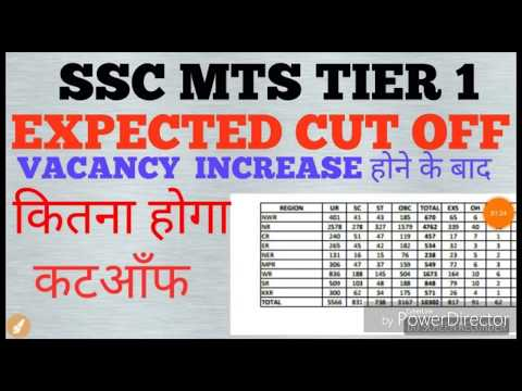 Ssc mts tier 1 expected cutoff