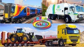 Машинки - изучаем транспорт и цвета, строительную технику / Обучающее видео для детей