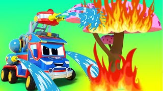 슈퍼 트럭 -  벚꽃 축제를 구해주기 - 자동차 마을 …