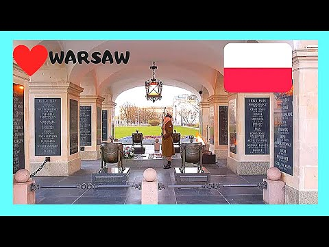 WARSAW, changing the guards, TOMB of the UNKNOWN SOLDIER (POLAND)