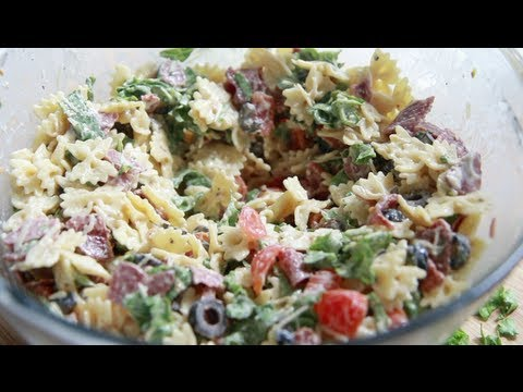 BLT Caesar Pasta Salad Recipe... Way to easy, yet so good!