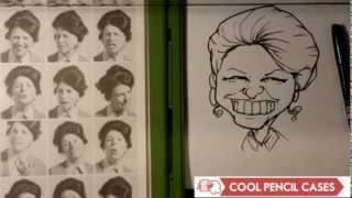 How to Draw a Caricature - Woman - Easy Pictures to Draw