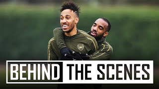 Tricks, skills and shooting practice | Behind the scenes at Arsenal training centre