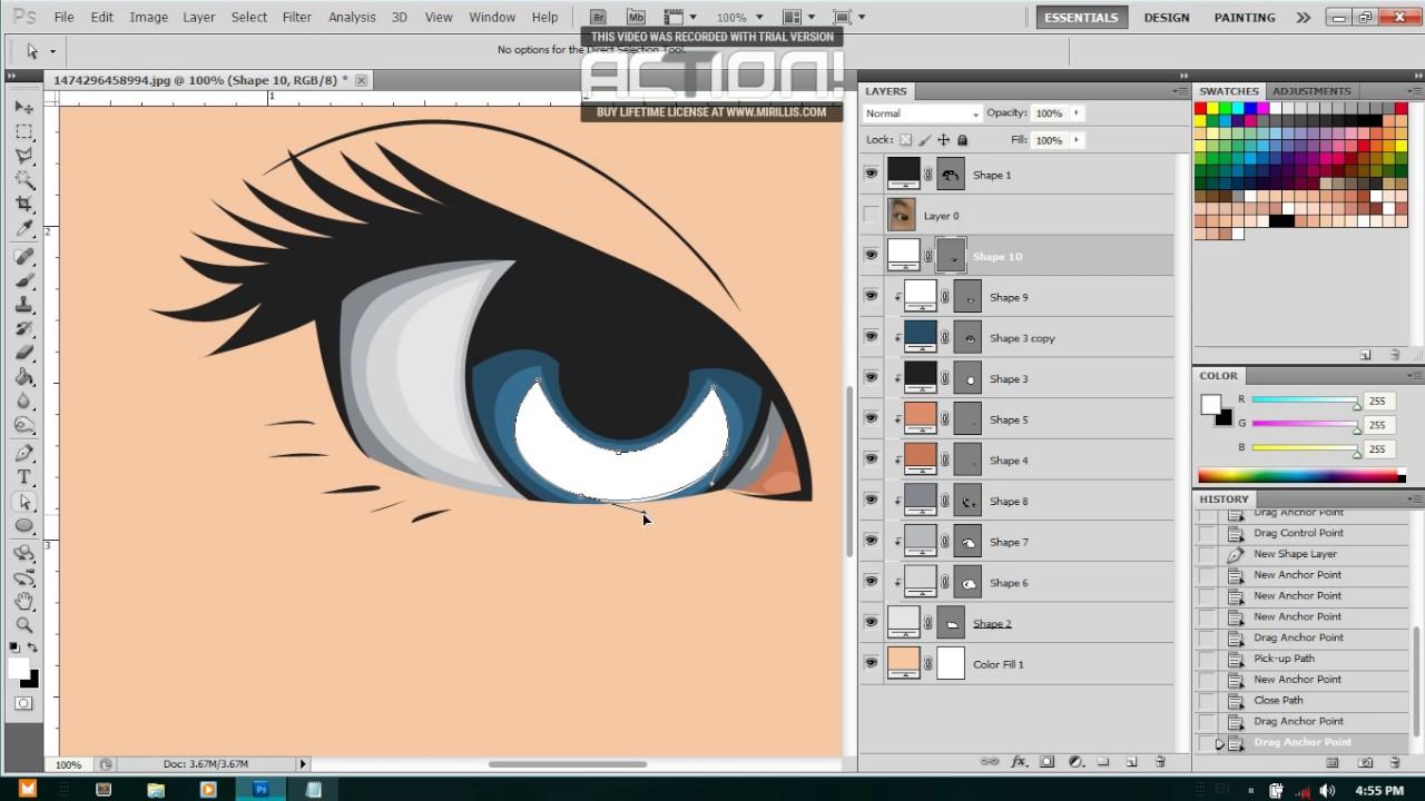 Tutorial membuat vektor kartun photoshop part 2 coloring and shading - Tutorial Vector Membuat Mata Menggunakan Photoshop Cs5
